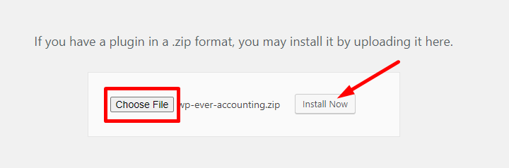 Install WP Ever Accounting