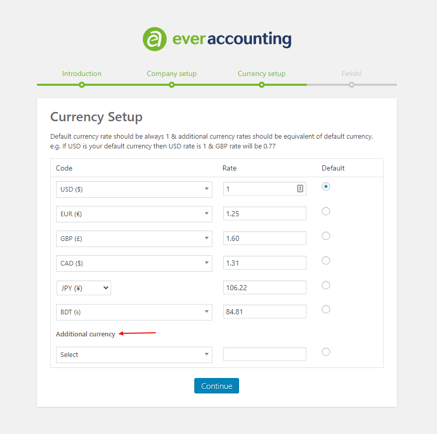 Currency Setup - WP Ever Accounting