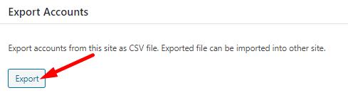 Export Accounts