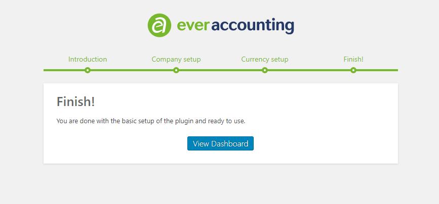 Finish quick Setup - WP Ever Accounting