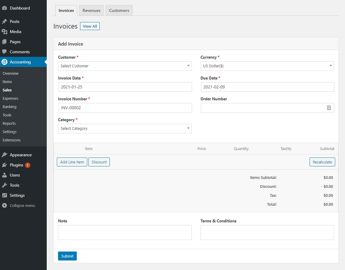 Add invoices