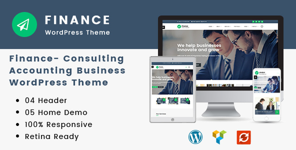 Finance consulting WordPress theme for accounting