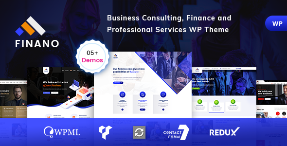 Finance and Business consulting WordPress Theme